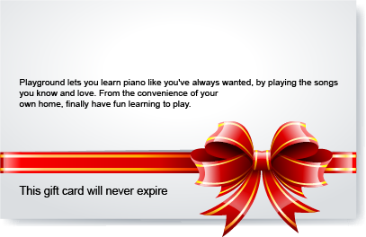 Playground Sessions Gift Card